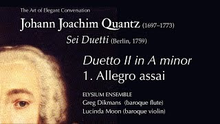 Johann Joachim Quantz - Duetto II in A minor: 1. Allegro assai