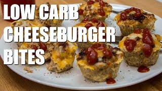 Healthy LOW CARB Cheeseburger Bites Recipe