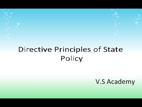 Polity/C-20/Directive Principles of State Policy.