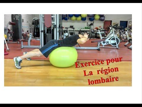 Exercices pour la région Lombaire (Partie basse du dos)