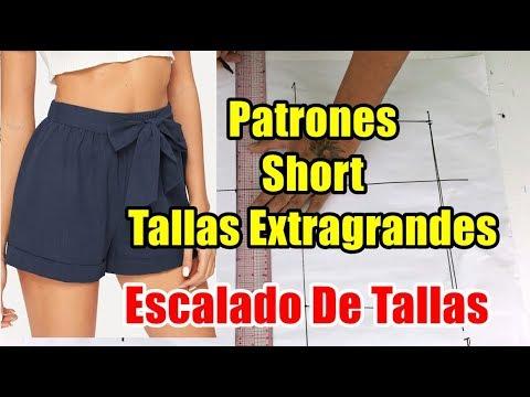 Patrones De Short De Dama Tallas Extras Escalado De Tallas Youtube