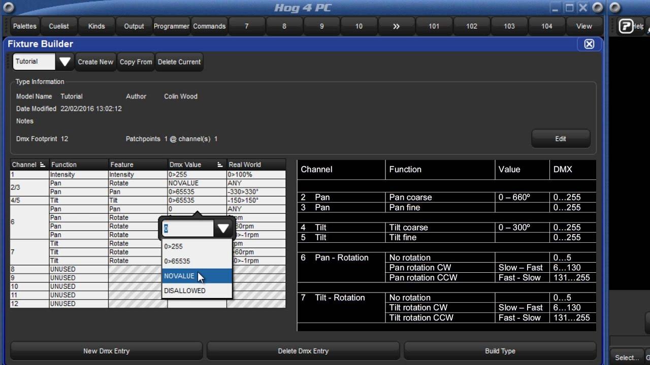 HOG 4 Tutorial 28 - Fixture Builder - YouTube