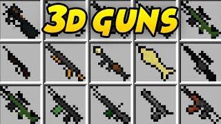 NIESAMOWITE BRONIE W MINECRAFT! | STEFINUS 3D GUNS MOD!