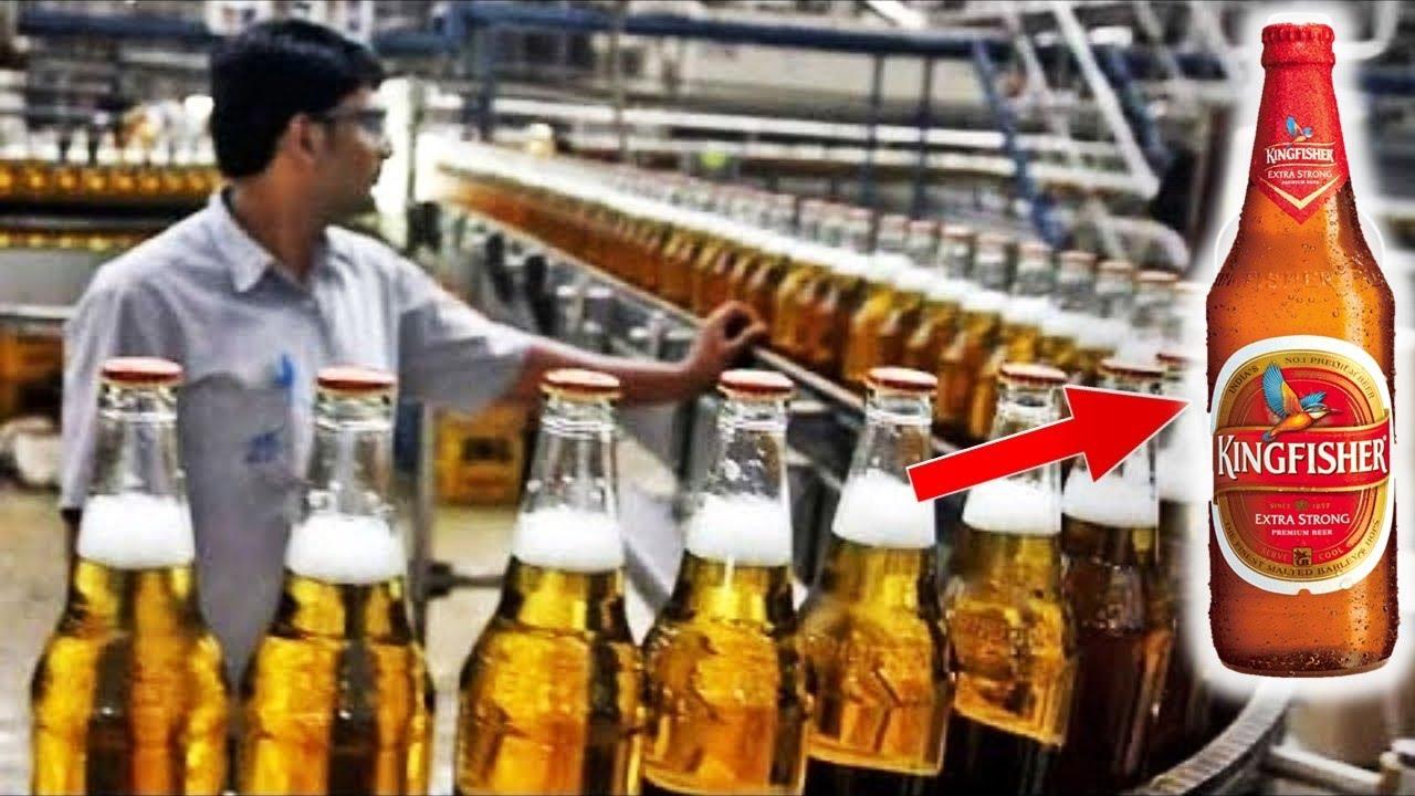 देखिये दोस्तों फैक्ट्री में कैसे बनाते है आपकी (Kingfisher) बियर    Beer Making Machine In Factory