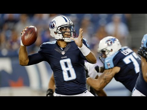 Marcus Mariota throws his first NFL touchdown pass - 2015 NFL Preseason Week 4