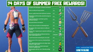 Fortnite ALL *FREE* 14 Days of Summer Rewards! - 14 Days of Summer Challenges Season 9