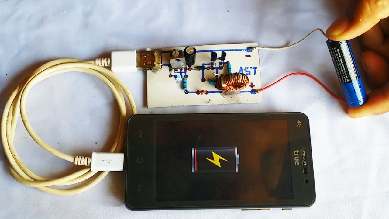 How To Make Easy Converter From 1 5v To 5v Dc Usb Charger