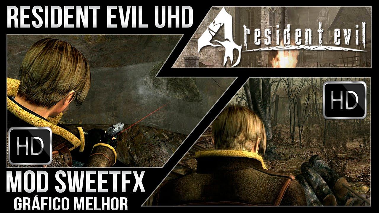 Resident Evil 4 Ultimate HD PC - Mod Gráfico SweetFX (Melhoramento Gráfico)