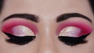 दुल्हन का ग्लिटर आई मेकअप कैसे करें How To Apply Loose Glitter INDIAN Bridal eye makeup In Hindi