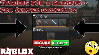 GETTING A GOOD TRADE FOR A KRAMPUS + FREE SOUL EXOTIC! (ROBLOX ASSASSIN PRO SERVER GAMEPLAY)