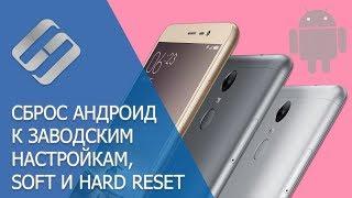 Скидання до заводських налаштувань і Hard Reset Android телефонів Samsung, Xiaomi, LG, Meizu, Huawei, HTC