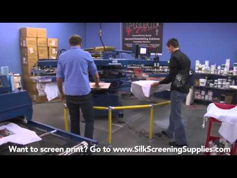 How to Screen Print - Automatic Printing - Detailed instruction - Screen Printing 101 DVD pt 35