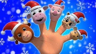 圣诞老人手指家庭| 给孩子们的歌曲 圣诞节视频 | Santa Claus Finger Family | Christmas Song