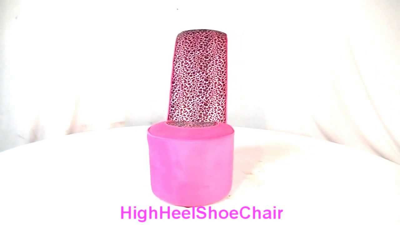 Leopard High Heel Chair Blue Computer Child Size Pink Shoe Youtube