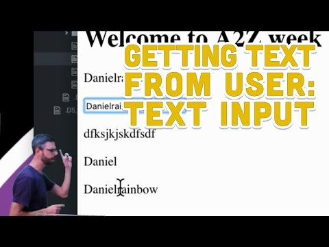 1.3: Getting Text Form User: Text Input - Programming With Text