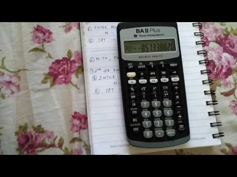 CFA- Calculating time value of money problems(PV, FV,N PMT, I/Y) using the BA 2 plus calculator.