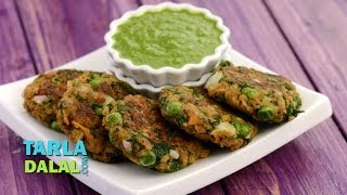 Soya and Green Peas Cutlet (Healthy Snack) by Tarla Dalal