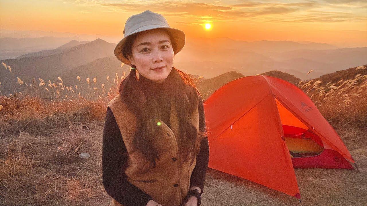 가을의 끝자락 솔로백패킹 l 캠핑 l 백패킹 l 등산 l  스파오 광고 l backpacking l camping
