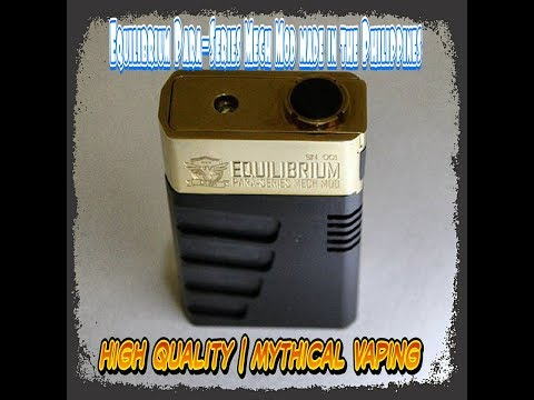 Mythical Vaping Concepts | Equilibrium Para - Series Mech Mod | Review & Breakdown