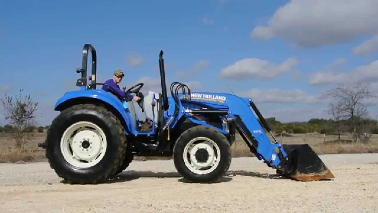 New Holland 75hp 4x4 Tractors : Demo video of hp new holland t tractor with loader