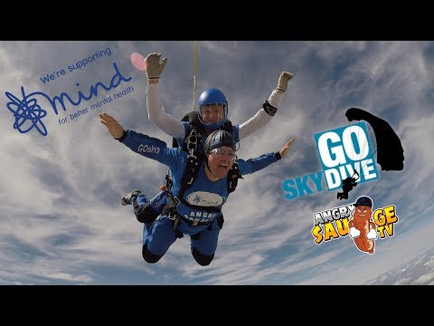 15000 FOOT GO SKYDIVE CHARITY JUMP FOR MIND 4th August 2018 with GRUMBLEHDTV