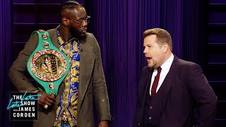 Download Deontay Wilder Crashes James Corden's Monologue Mp3 and Videos