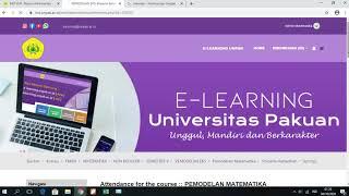 Download Tutorial Membuat Presensi / Absensi Mahasiswa e-Learning Universitas Pakuan