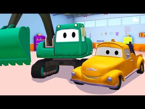 Tom der Abschleppwagen und Der Bagger in Car City |Lastwagen Bau-Cartoon-Serie fûr Kinder 🚚