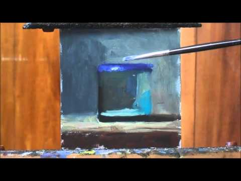 Blue Glass Oil Painting Demonstration