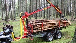 Hydraulic timber trailer ATV Kranman T2000ex