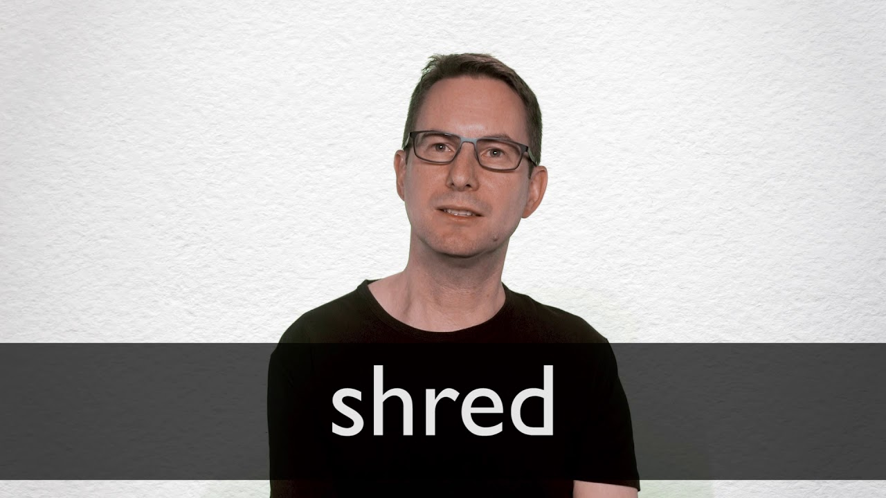 shred definition and meaning