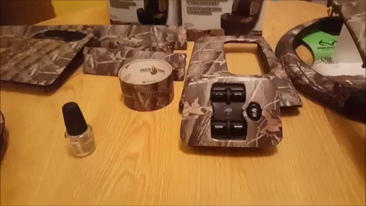 Realtree Camo Duct Tape Duck Brand vehicle Interior Trim job
