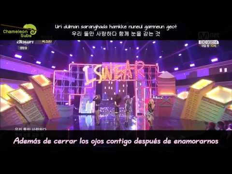 [Subs Español] Sistar - I swear (Live 140828)