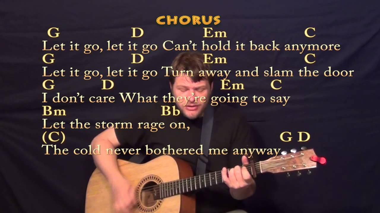 Let It Go (Idina Menzel) Strum Guitar Cover Lesson with Chords and Lyrics - YouTube