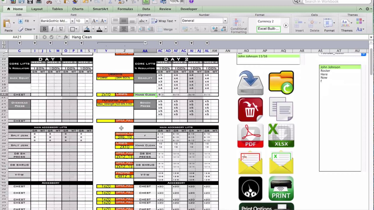 the best strength conditioning excel template ever made youtube