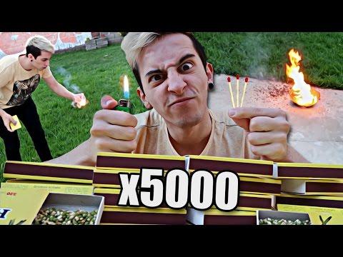 PRENDIENDO 5.000 FÓSFOROS A LA VEZ !! - RobleisIUTU
