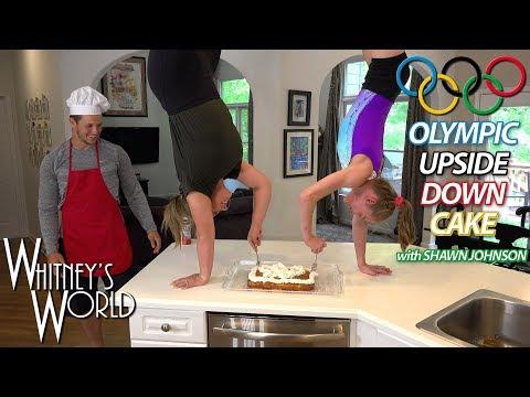Upside Down Cake with Shawn Johnson & Whitney Bjerken | Kitchen Gymnastics