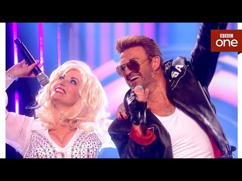 Download Youtube: George Michael tribute act Rob Lamberti ft 'Dolly Parton' - Even Better Than the Real Thing