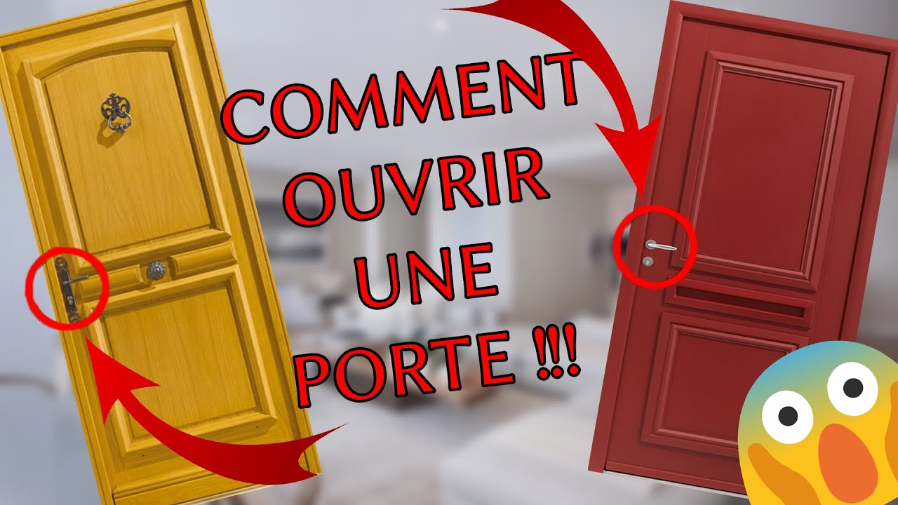 tuto comment ouvrir une porte avec une poign e youtube. Black Bedroom Furniture Sets. Home Design Ideas