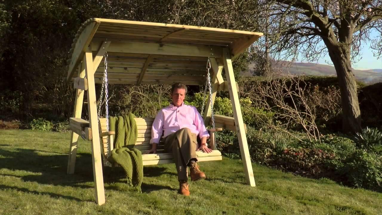 Zest 4 Leisure Miami Swing Garden Seat Bench - YouTube