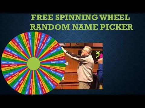 FREE Spinning Wheel Random Name Picker