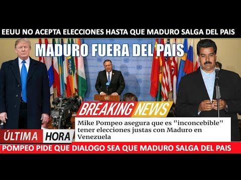 EEUU no aceptara elecciones mientras Maduro este en el pais