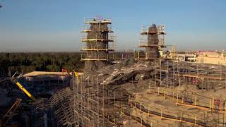 HD Drone Footage of Star Wars: Galaxy's Edge Construction at Disneyland