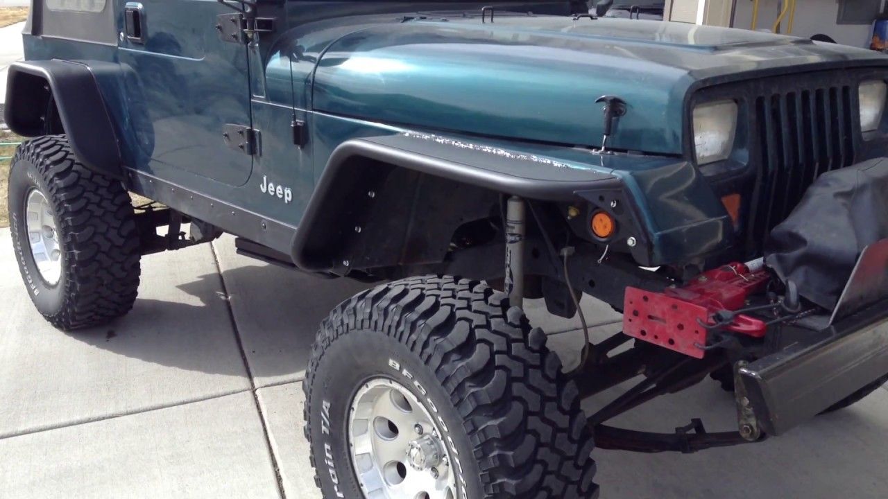 Jeep Yj Fender Flares Steel Youtube