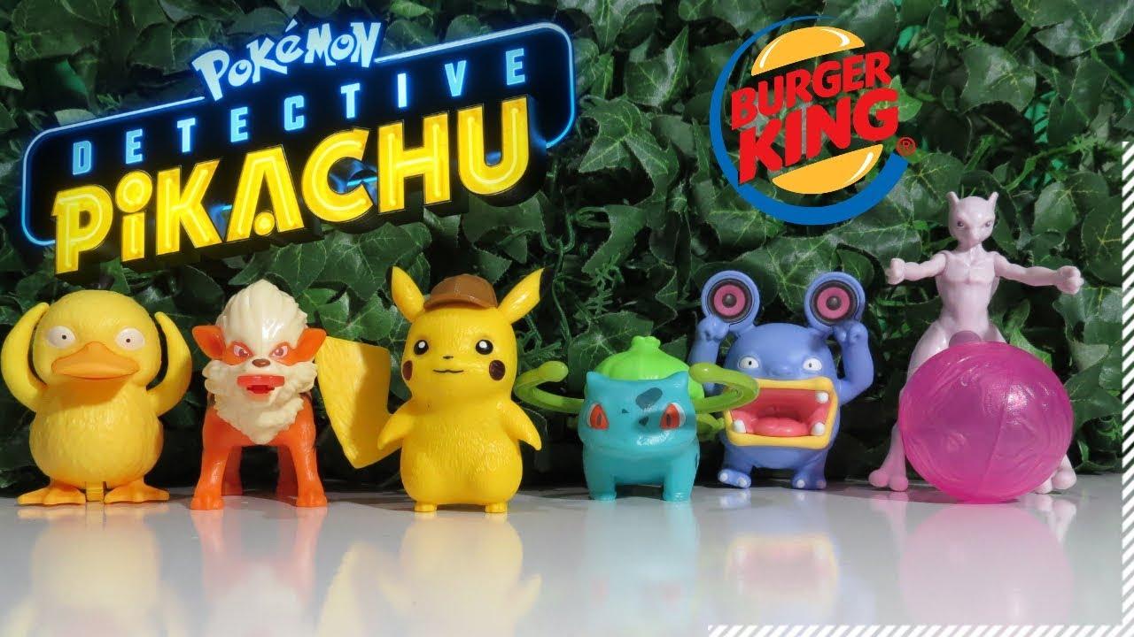 Pokémon Detetive Pikachu Burger King Maio 2019 King Jr