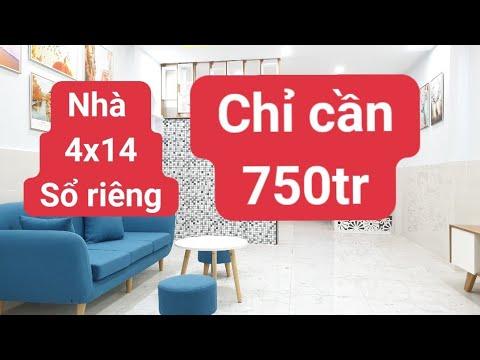 Nhà HXH Đinh Đức Thiện Bình Chánh 4×14 sổ riêng | hỗ trợ vay | chỉ cần 750tr | LH 0906485209