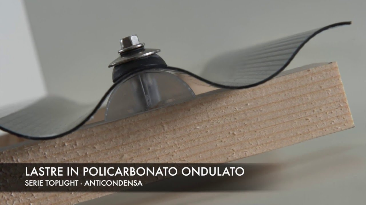 Lastre in policarbonato compatto ondulato serie Toplight - YouTube