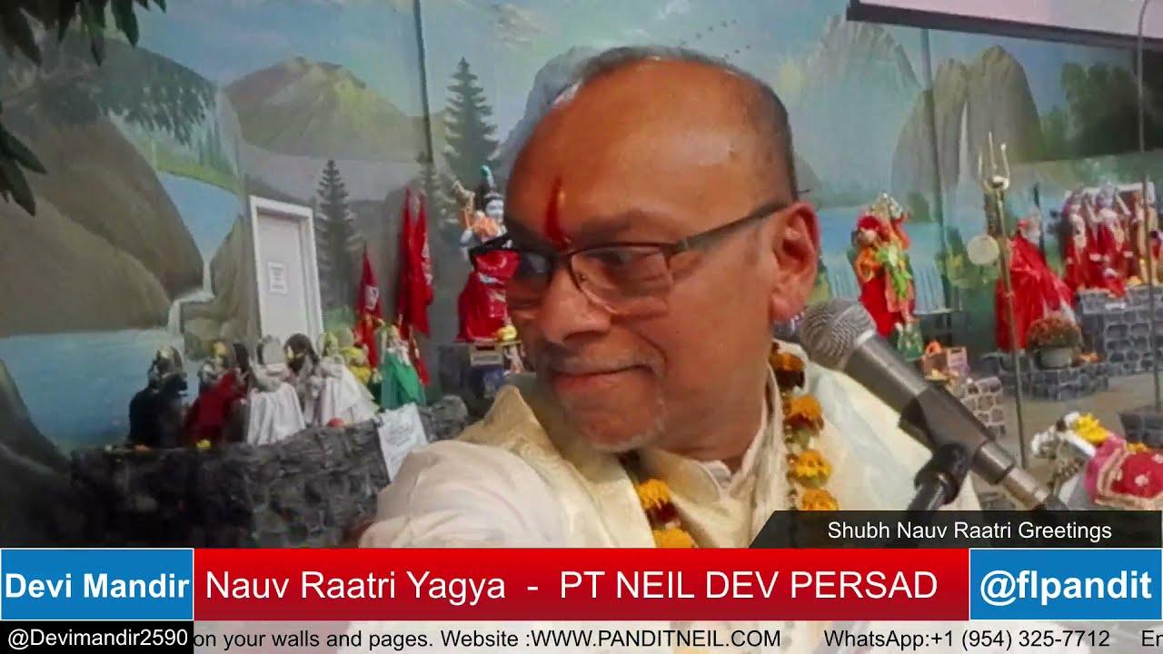 Download Devi Mandir - NauvRaatri Yagya- Durga Ashtami 8th Session - Pt Neil Dev Persad