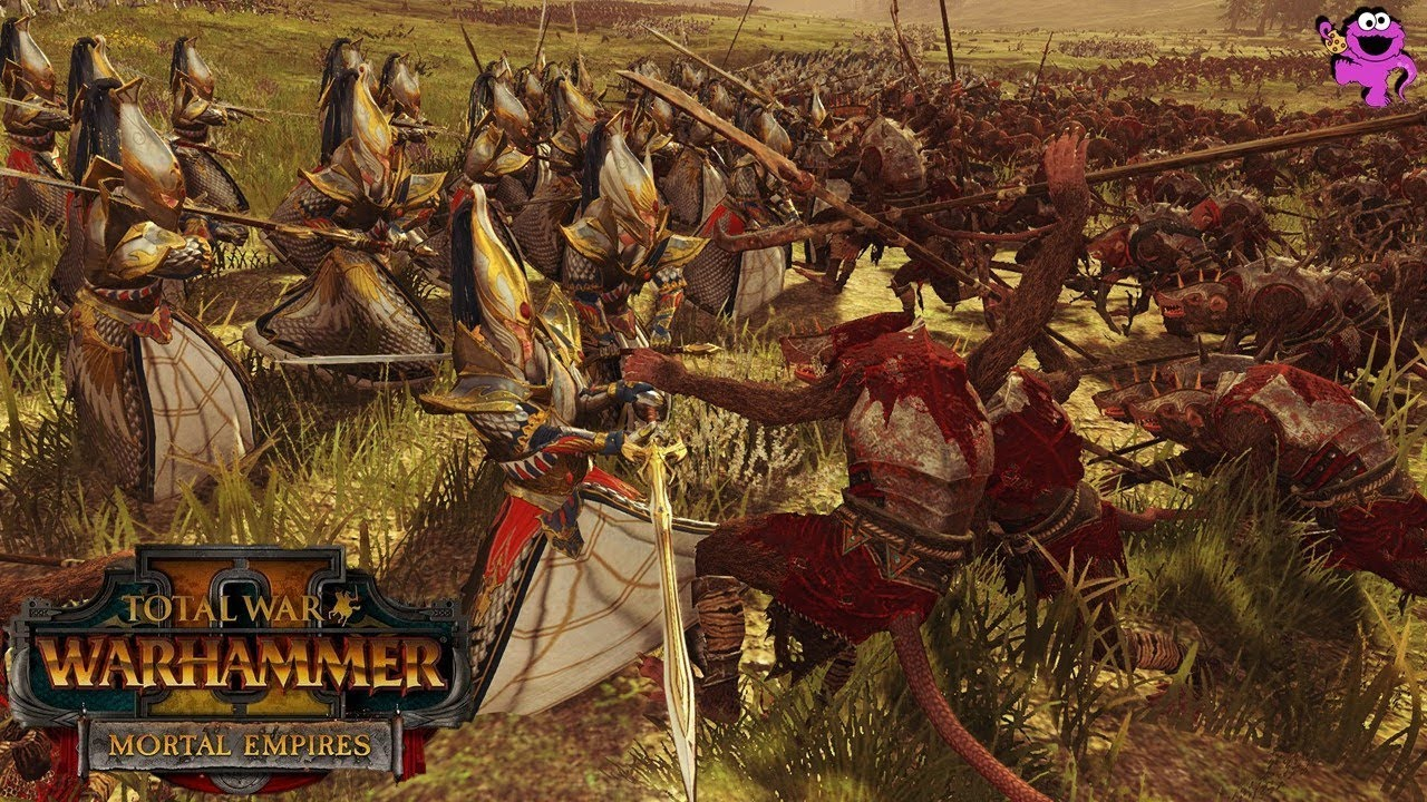 MORTAL EMPIRES MULTIPLAYER - High Elves + Bretonnia 2v2 - Total War  Warhammer 2 Gameplay
