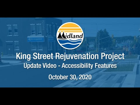 King Street Rejuvenation Update: Accessibility Features - October 30, 2020